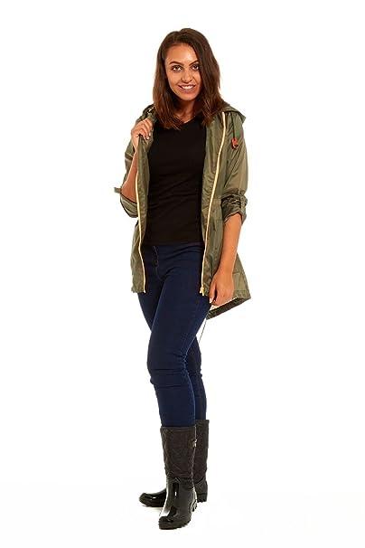 Las mujeres Eloise/verano impermeable Nieve abrigos ligera lluvia Mac Festival Parka chaqueta Kagool atractivo colores Summer Khaki X-Large: Amazon.es: Ropa ...