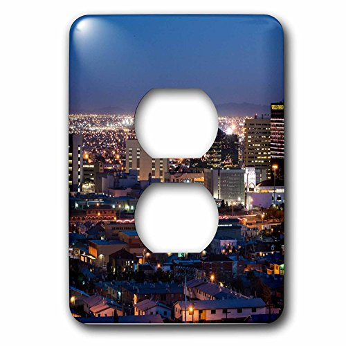 3dRose Cities Of The World - City Of El Paso, Texas - Light Switch Covers - 2 plug outlet cover - El Outlets Paso The Texas