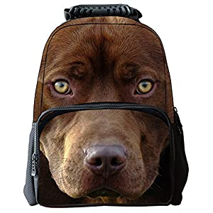 Rosing House Outdoor 3D Animal laptop Casual Cute Backpack (Dog)