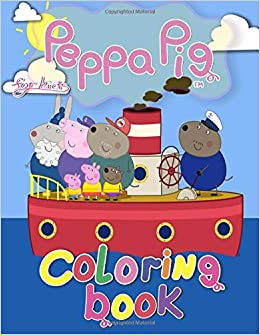 Peppa Pig Coloring Book: Peppa Pig Jumbo Coloring Book With 50 ...