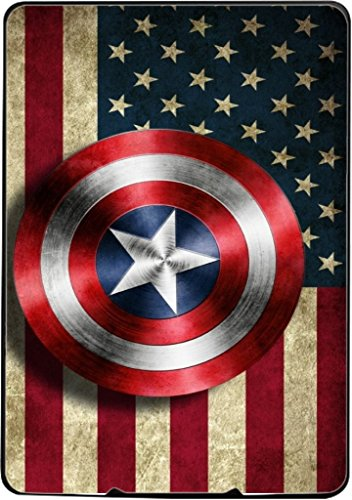 Old Style American Flag With Captain America Shield Design Print Image Kindle Paperwhite Vinyl Decal Sticker Skin by Trendy Accessories
