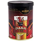 Mr. Beer Diablo IPA 2 Gallon Homebrewing Craft Beer Making Refill Kit with Sanitizer, Yeast and All Grain Brewing Extract