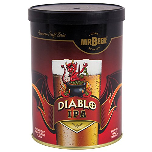 Mr. Beer 60975 Diablo IPA 2 Gallon Craft Beer Refill Kit, Contains Hopped Malt Extract Designed for Consistent, Simple and Efficient Homebrewing (Best Ipa Craft Beer)