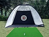 77tech 10' Golf Practice Net Driving Net System Tri-Ball Hitting Net with Target