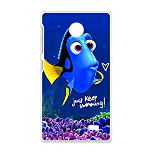 NICKER Finding Nemo lovely blue fish Cell Phone Case for Nokia Lumia X