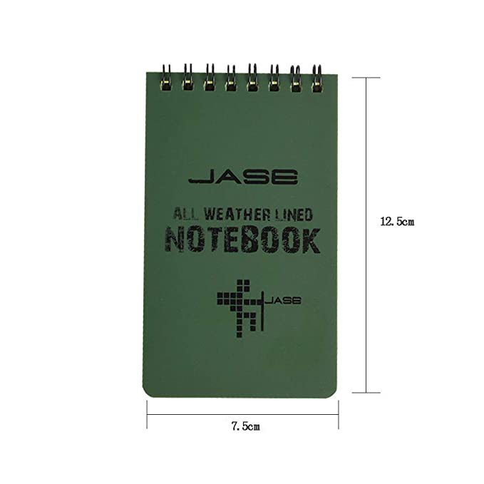 Hard Cover Universal Pattern for Outdoor Activities Recording Pocket Sized Top Spiral Shower Aqua Notes 10pcs All-Weather Waterproof Notebook Tactical Notepad