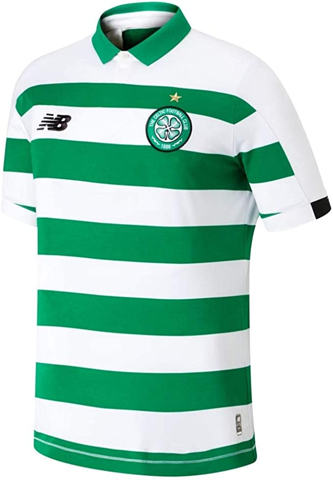 New Balance Celtic FC 2019/20 Junior SS Camisa de Polo, Hogar ...