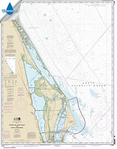 NOAA Chart 11484: Ponce de Leon Inlet to Cape Canaveral, 35.3 X 44.6, WATERPROOF (Waterproof Chart Book)