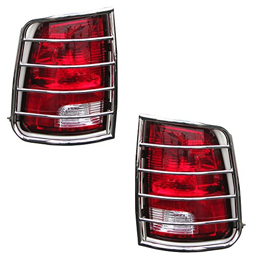 BLACK HORSE 7DGRMSS Stainless Steel Tail Light Guard, 1 Pack