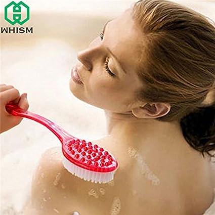 Buy WHISM Plastic Bath Brushes Back Skin Massage Health Care ...