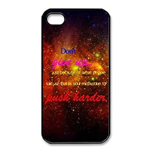 Xgite Unique Design Cases iPhone 4,4S Cell Phone Case Don't give up Printed Cover Protector