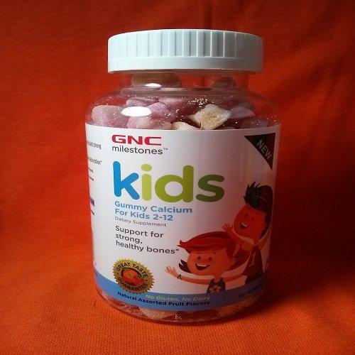 Jalons GNC Kids Bone santé assortis Gummy fruits saveurs 1