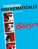Book cover from Thinking Mathematically (6th Edition) by Robert F. Blitzer