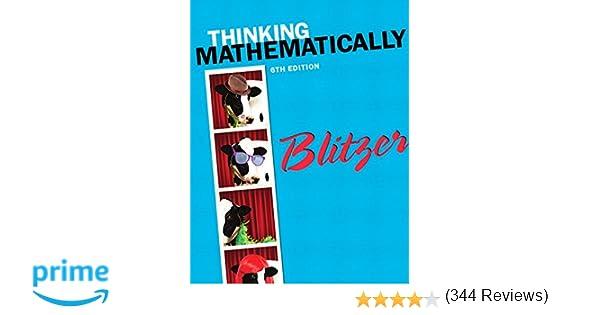 Thinking Mathematically (6th Edition): Robert F. Blitzer ...