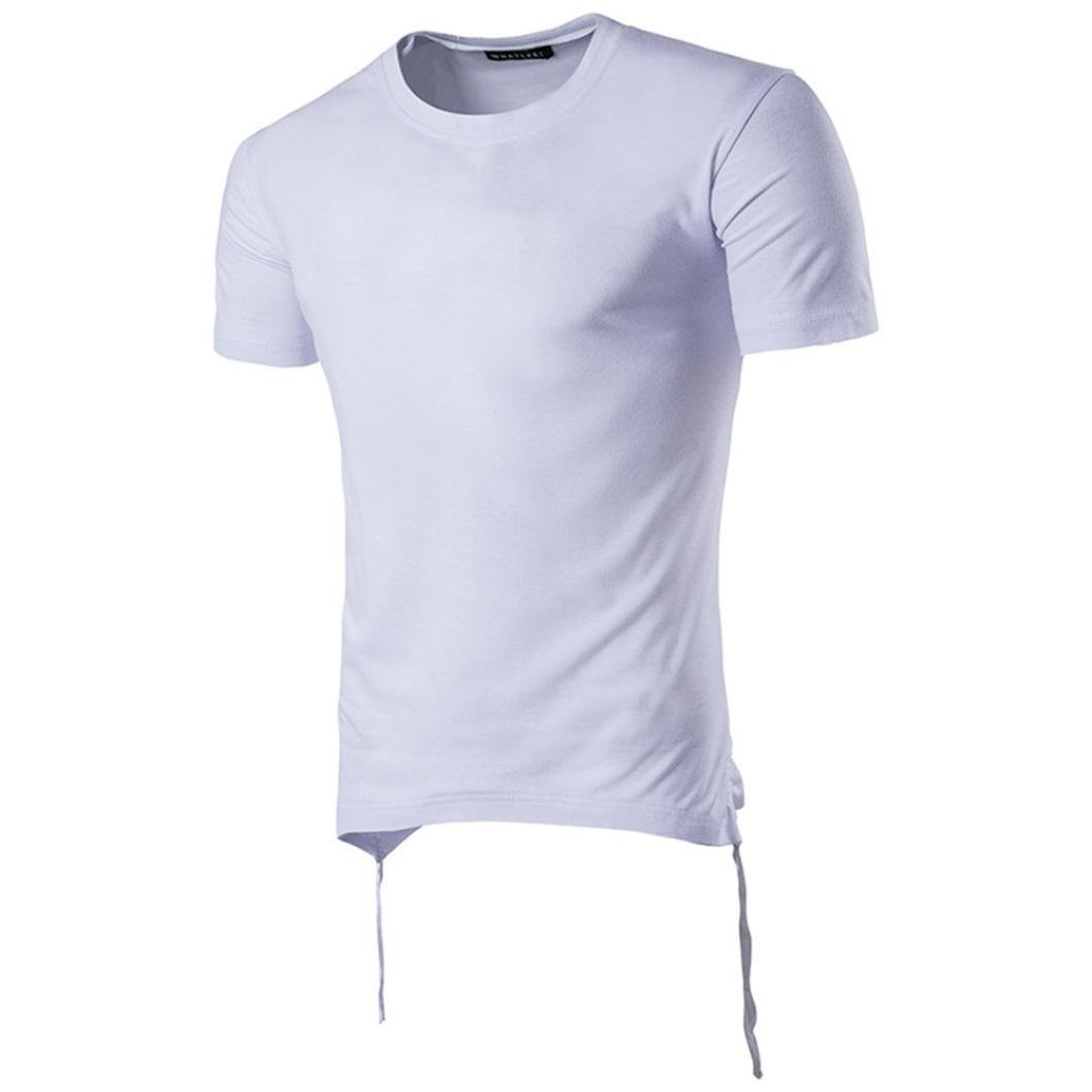 iOPQO T-Shirt for Men, Casual Lip Pure Color Short Sleeve T-Shirt Top Blouse