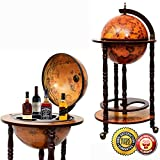 Cheap New 36″ Wood Globe Wine Bar Stand 16th Century Italian Rack Liquor Bottle Shelf