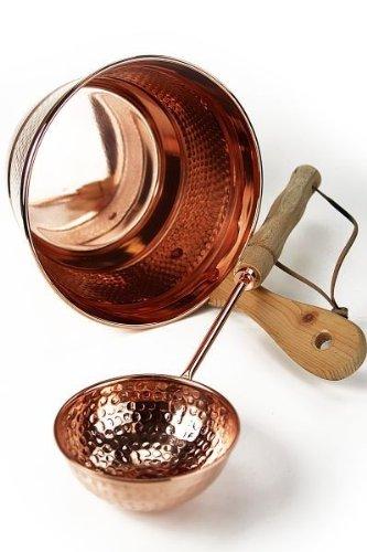 CopperGarden Sceau avec louche en cuivre pour sauna CopperGarden®