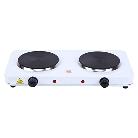 XuanYue Portable Electric Double Buffet Burner 2000W Portable Countertop  Stove Heater with Temperature Control for Fast Cooking at Home, in Office,  ...