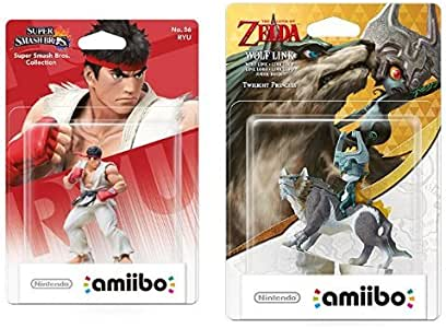 Pack Amiibo: amiibo Smash Ryu + amiibo Wolf Link: Amazon.es: Videojuegos
