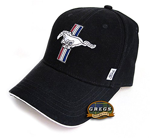 Gregs Automotive Mustang GT Hat Cap in Black Bundle with Driving Style Decal 197BK