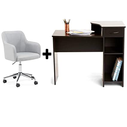 Beau Home/Office Student Bedroom Furniture Indoor Desk In Black With High  Density Foam Seating Low