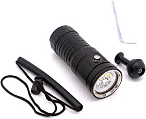 Meiyiu Professional 3 Color Underwater Photography Video Light Diving Flashlight
