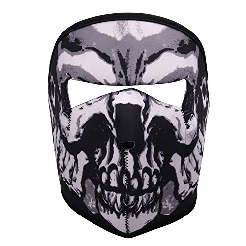 Cideros Full Face Mask Skeleton Designed Ski Cycling CS Halloween Mask Windproof&Coldproof Winter Outdoor Biking Climbing Hiking Camping Hunting Running Protective Equipment (Halloween Costumes To Wear While Running)