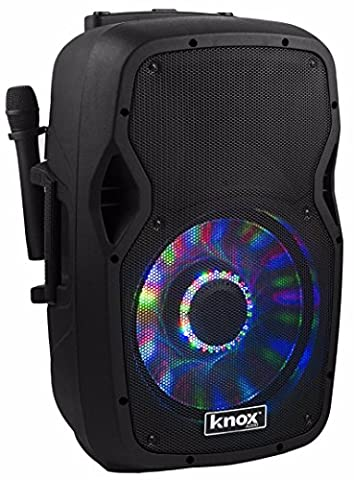 Knox Gear 100-Watt 15-Inch Portable Bluetooth PA and Karaoke Party Speaker System (15 Inch Party Speakers)