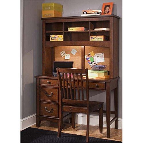 Liberty Furniture Chelsea Square Student and Hutch Desk in Tobacco