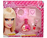 Mattel Barbie Beauty Gift Set EDT/ Lip Gloss Hair Band and Tattoos - 4 Piece