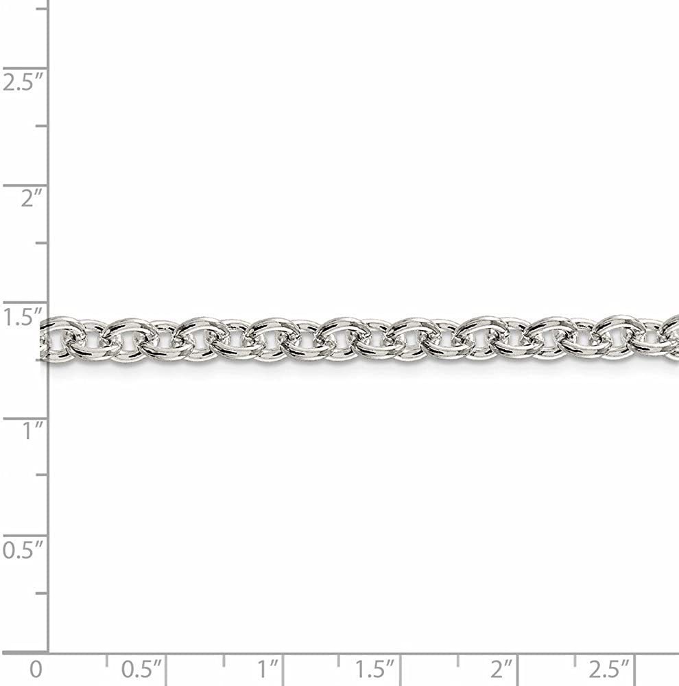 925 Sterling Silver 6.10mm Cable Chain 30 Inch