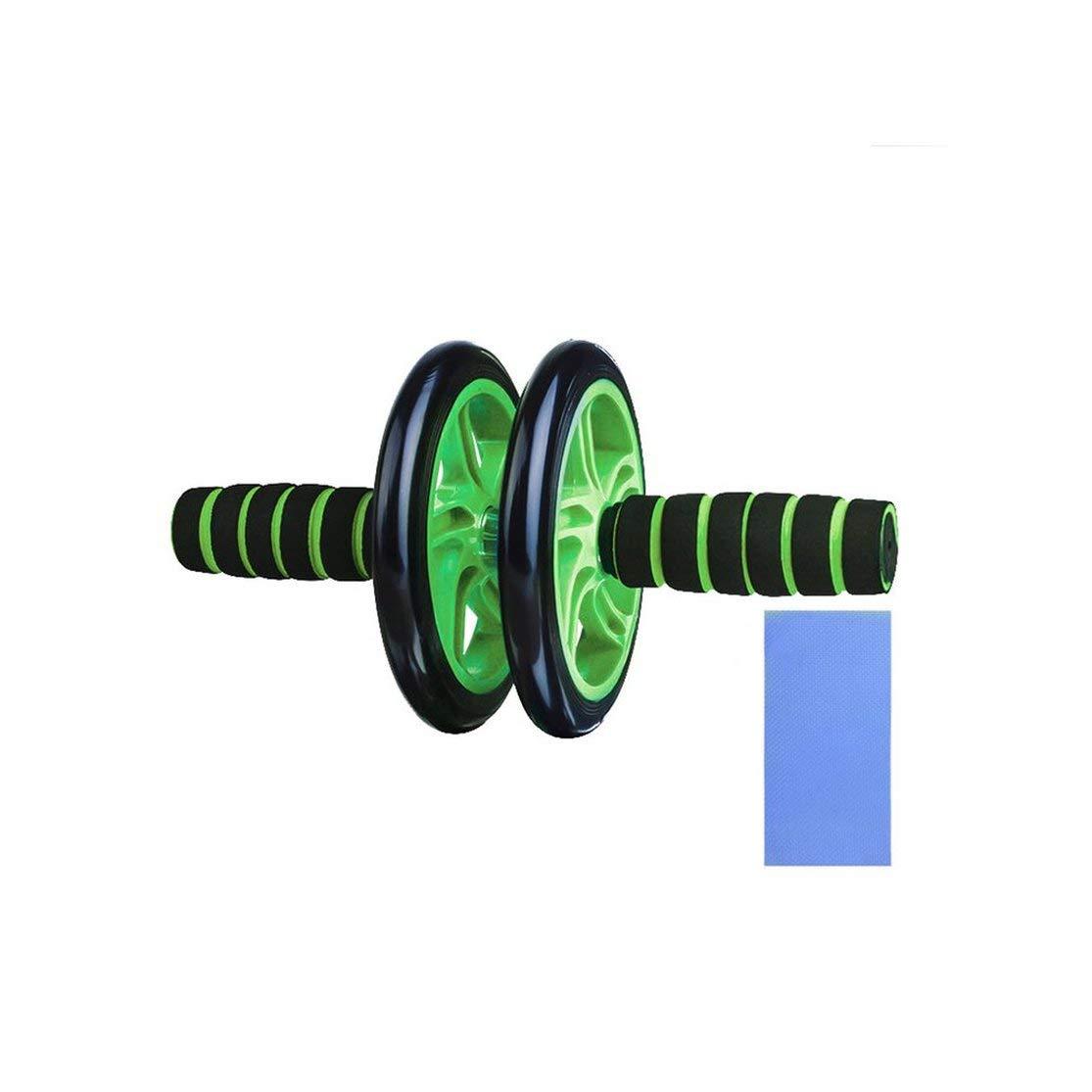 Jullyelegant Ruedas para Ejercicios Abdominales Ruedas Dobles Cintura para Ejercicios Abdominales Ejercicio Gimnasio Roller Core Entrenador Equipos para Ejercicios Ruedas Verde