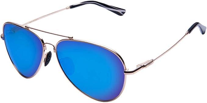 TAIQX Polarizado gafas de sol aviador Gafas de sol de primavera clásico de conducción de armas de gran tamaño y tamaño medio traje de rostros de ...
