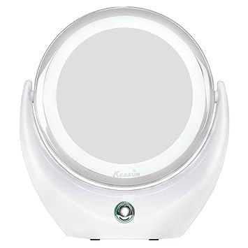 Amazon.com: KEDSUM 1X/5X LED Lighted Double Sided Makeup Mirror ...