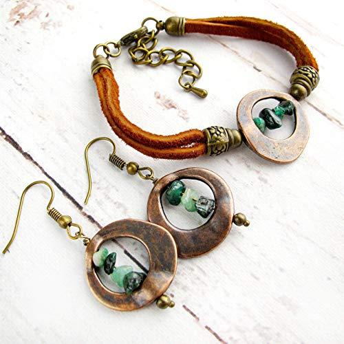 May Birthstone Jewelry-Raw Birthstone Gift for Her-Raw Emerald Birthstone Bracelet-Personalized Jewelry-May Birthday Gift-Raw Stone - Mothers Personalized Precious Bracelet Semi
