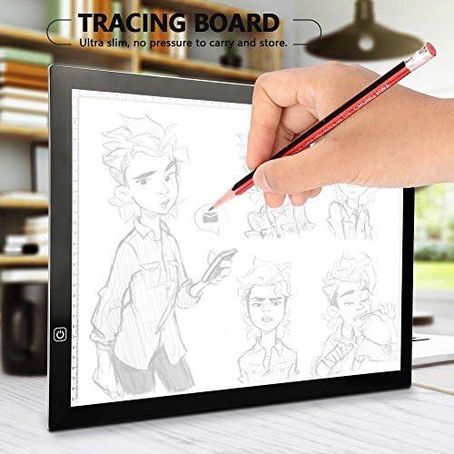 Mesa de Luz Dibujo A3, LED Tableta de Luz de Iluminaci¨®n de la Caja de Alimentaci¨®n Micro USB Ideal para Animacion Tatoo Dibuja: Amazon.es: Hogar
