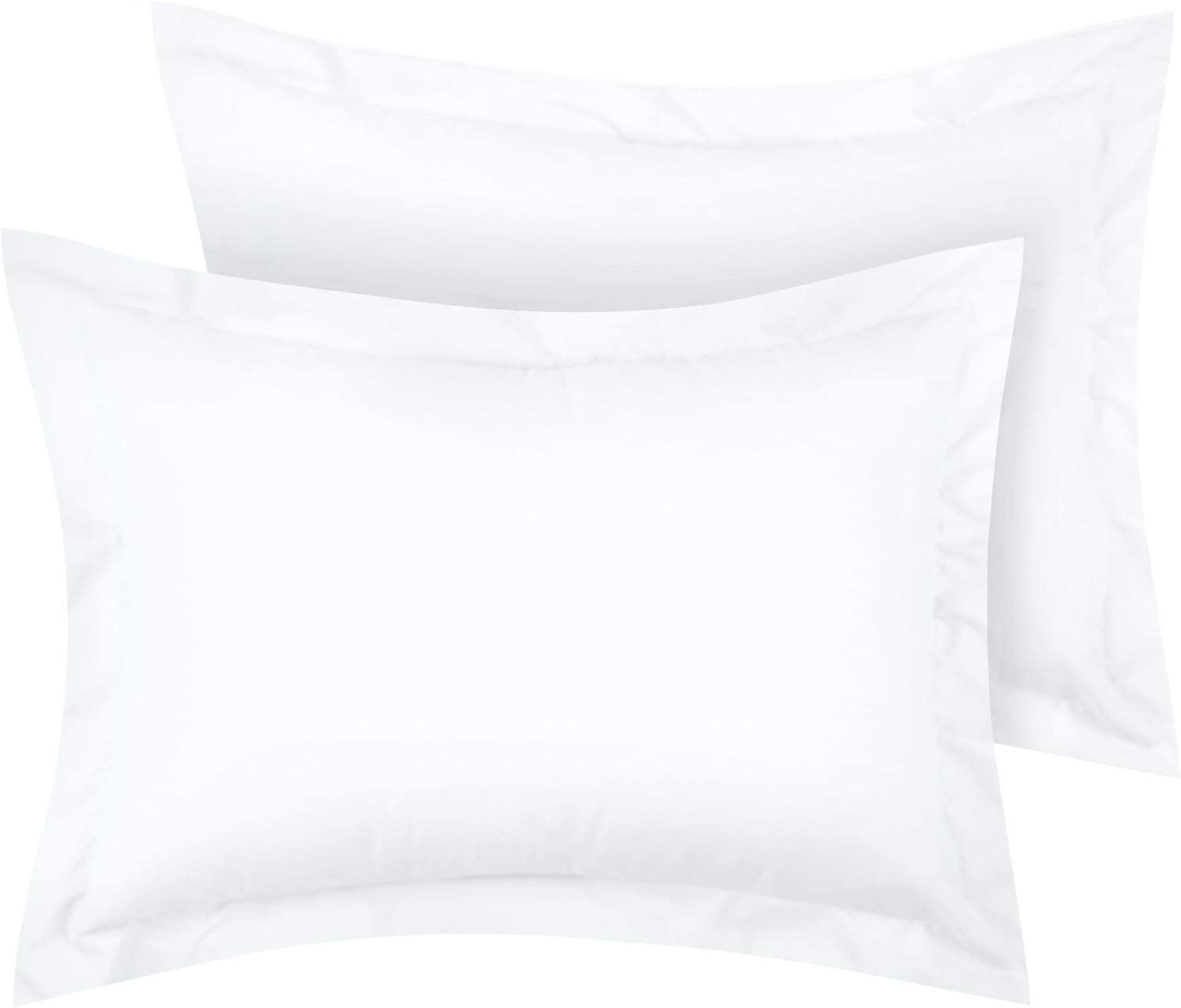 Mellanni Pillow Shams Set of 2 Standard Size - Soft Double Brushed Microfiber Decorative Pillow Covers/Cases 20