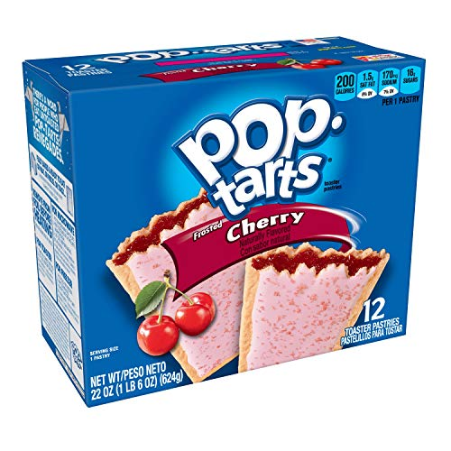 Pop-Tarts Breakfast Toaster Pastries, Frosted Cherry Flavored, Bulk Size, 144 Count (Pack of 12, 22 oz Boxes) ()