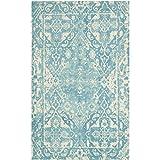 Safavieh RVT532C-8 Restoration Vintage Collection Handmade Light Blue & Ivory Wool Area Rug, 8' x 10'