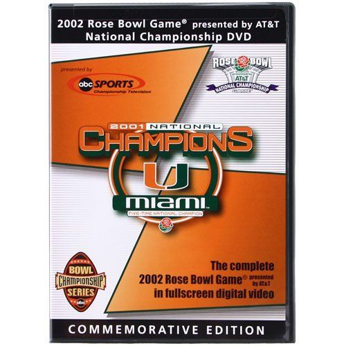 Miami Hurricanes: 2002 Rose Bowl [DVD] [Region 1] [US Import] ()