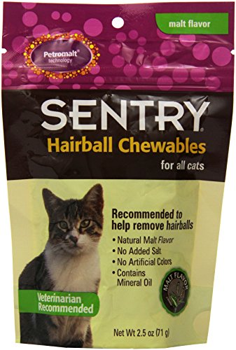 Petromalt Sentry HC Hairball Chewable, 2-1/2-Ounce Malt Flavor