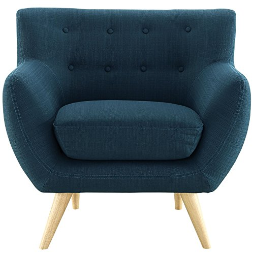 - Modern Contemporary Armchair, Navy Fabric