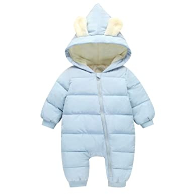 0a314d567 Amazon.com  Baby Girl Boy Snowsuits Down Suit Warm Winter Animal ...