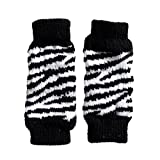 Elaco Pet Dog Leg Socks Zebra-stripe Cute Warm Socks Dog Non-slip Pet Leg Warmers Warm (Black - S)