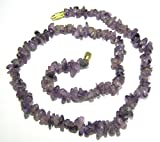 CRYSTALMIRACLE BEAUTIFUL AMETHYST 18 INCHES GEMSTONE NECKLACE CRYSTAL HEALING WOMEN GIFT POSITIVE ENERGY FASHION WICCA JEWELRY MEDITATION HEALTH WEALTH CHAKRA BALANCER PEACE SUCCESS PROTECTIVE