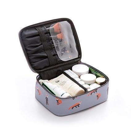 Dumcuw Bolsa de maquillaje de viaje con compartimento para ...