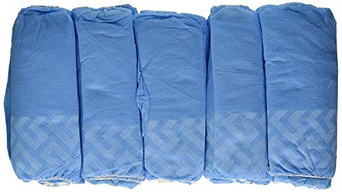 VersaPro Medical Booties Shoe Covers Non Slip Package of 50 Pair - 100 Covers - Blue