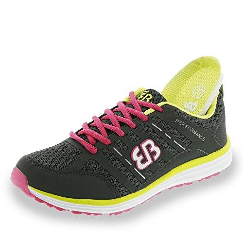 Bruetting Effect - Zapatillas de Deporte Mujer gris - anthrazit-pink-gelb
