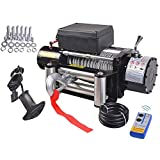 Classic 9500lbs 12V Electric Recovery Winch Truck SUV Wireless Remote Control TKT-11