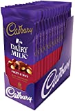 CADBURY DAIRY MILK Fruit & Nut Chocolate Candy Bar, Milk Chocolate with Raisins and Almonds, 3.5 Ounce Package (Pack of 14)